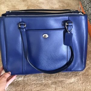 Blue leather Coach Purse
